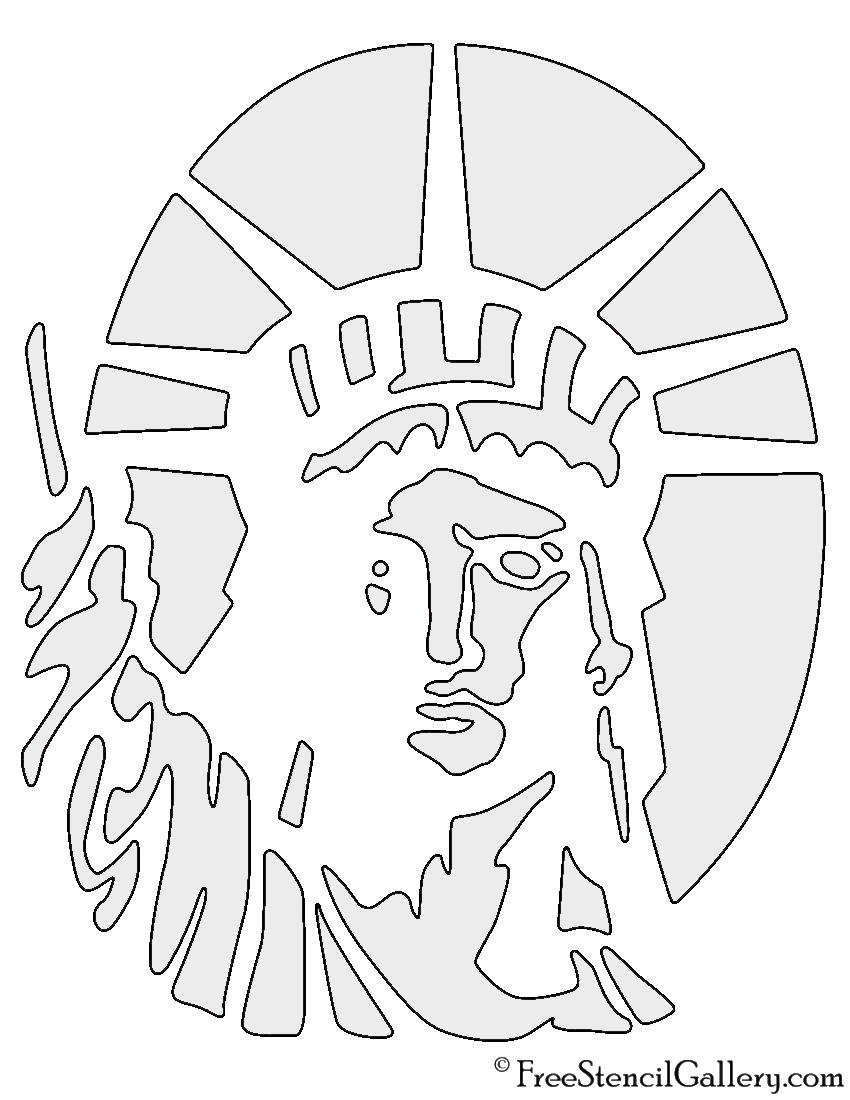 850x1100 Statue Of Liberty Stencil Free Stencil Gallery