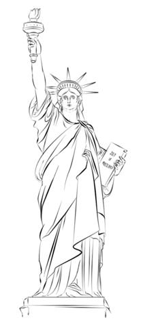 207x480 Statue Of Liberty In New York Ausmalbild Usa Liberty