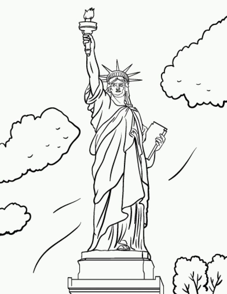 735x952 30 Best Statue Of Liberty Ideas For Painting Images