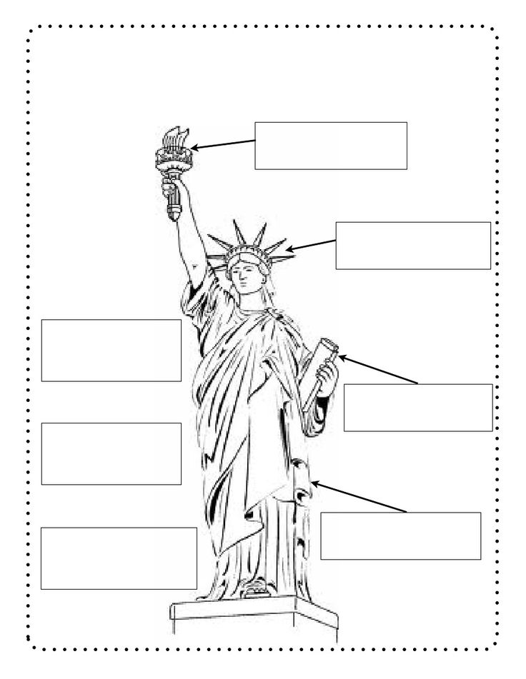 Statue Of Liberty Drawing Outline At Getdrawings Free For