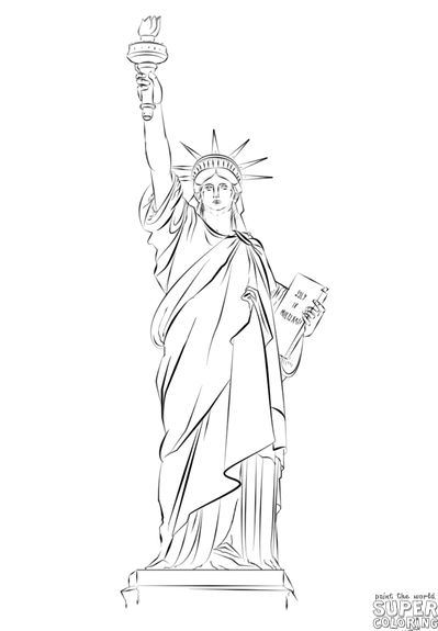 399x575 Statue Of Liberty Drawing Tutorial