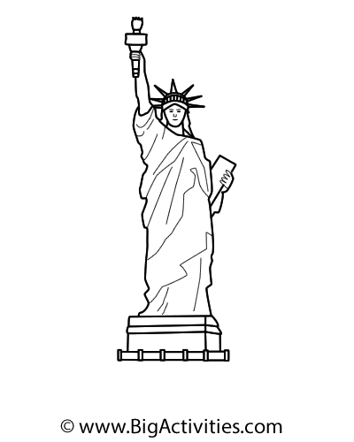 400x500 Easy Statue Of Liberty Drawing