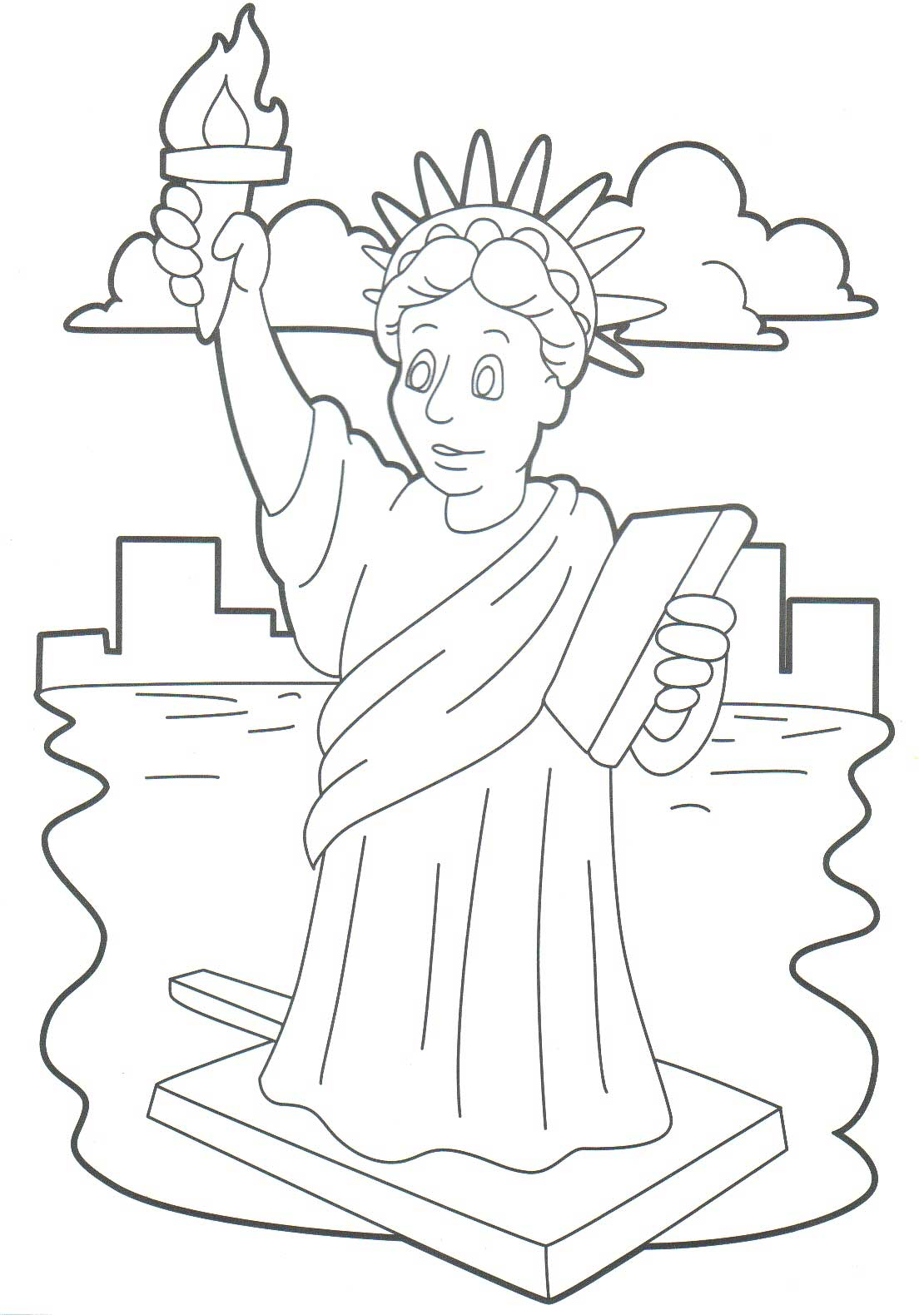 1110x1580 Printable Statue Of Liberty Coloring Pages For Kids