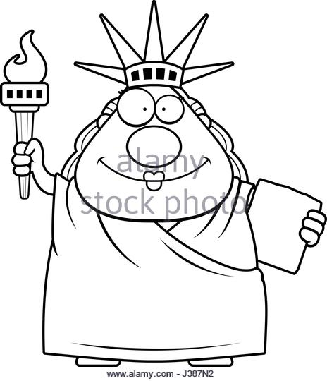 464x540 Statue Liberty Cartoon Black And White Stock Photos Amp Images