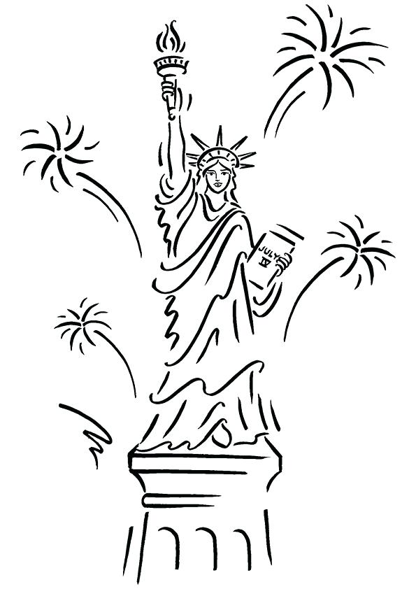595x842 Statue Of Liberty Color Page Statue Of Liberty Coloring Pages