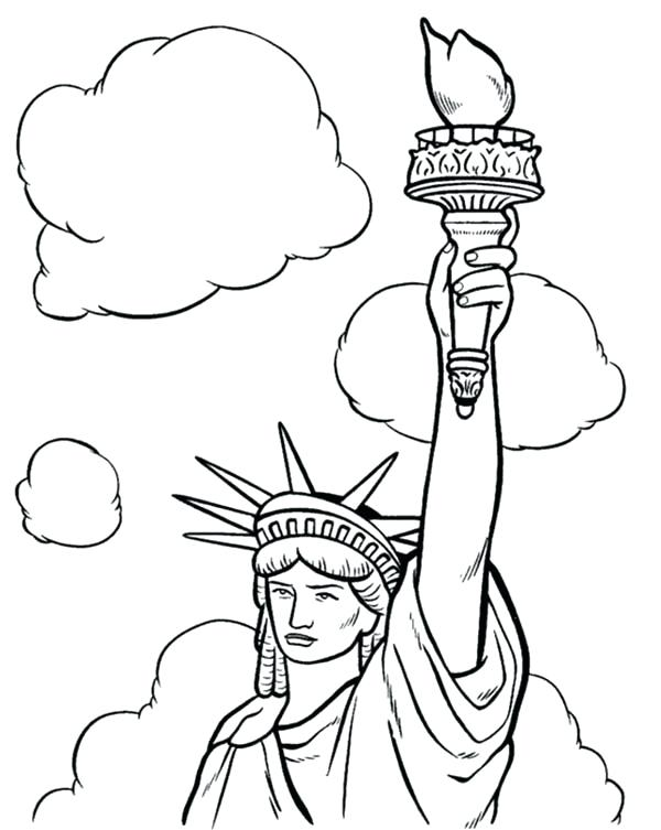 600x753 Statue Of Liberty Coloring Pages Printables 4 Page Download Print