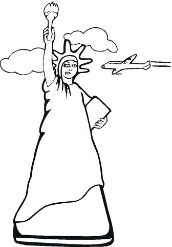 336x480 Stunning Statue Of Liberty Coloring Page Print Coloring Pages