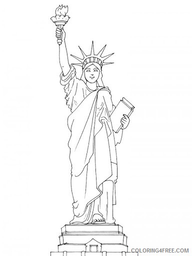 384x512 Statue Of Liberty Coloring Pages In New York Coloring4free