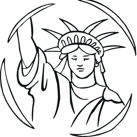 480x480 Statue Of Liberty Coloring Pages Nzherald.co
