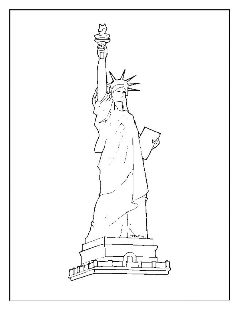 790x1024 Free Printable Statue Of Liberty Coloring Pages For Kids Adult