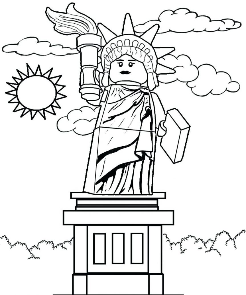 863x1036 Free Color And Print Pictures Of Sculpture Series 6 Lady Liberty