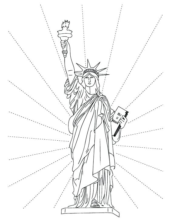 564x729 Amazing Statue Of Liberty Coloring Pages Print Torch Page