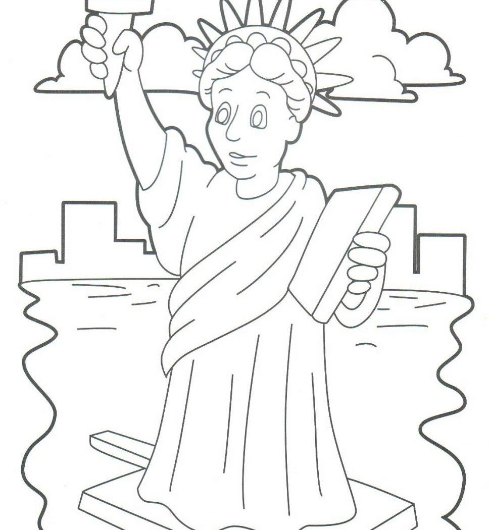 970x1050 Sport Statue Of Liberty Coloring Pages For Download And Print Free