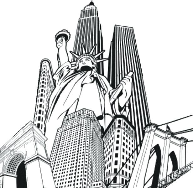 616x600 Statue Of Liberty Coloring Page Easy Free To Print For Adult