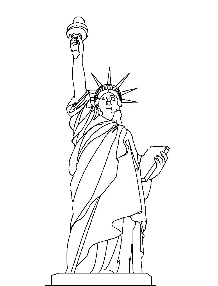 750x982 Statue Of Liberty Coloring Page Easy Pages Source Best Coloring