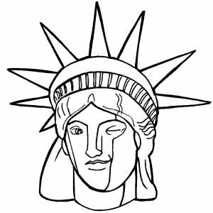 300x300 Statue Of Liberty Coloring Page
