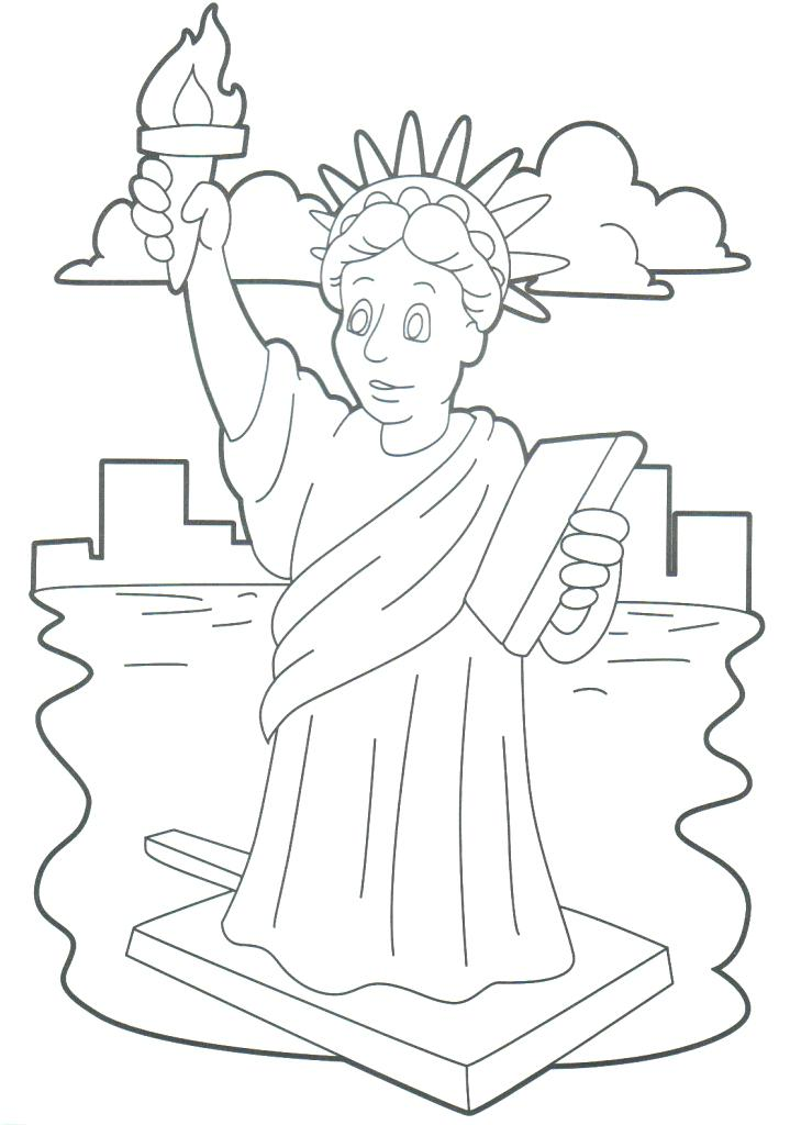 719x1024 Statue Of Liberty Coloring Pages Free Of Coloring Pages Statue