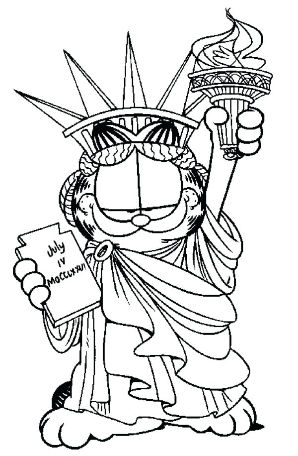 600x916 Statue Of Liberty Coloring Pages Statue Of Liberty More Coloring