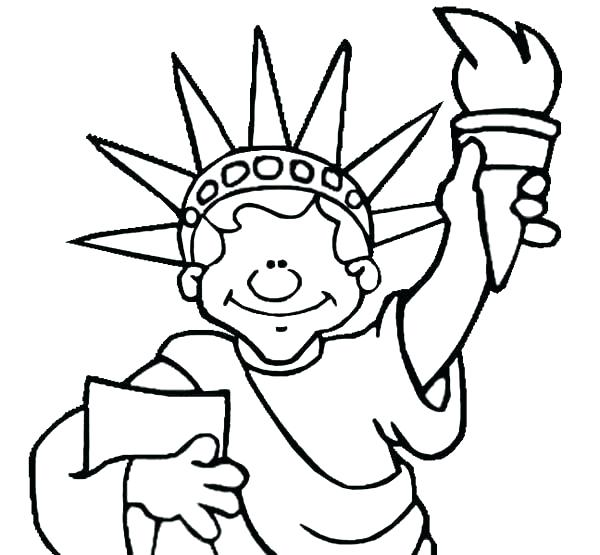 Statue Of Liberty Drawing For Kids