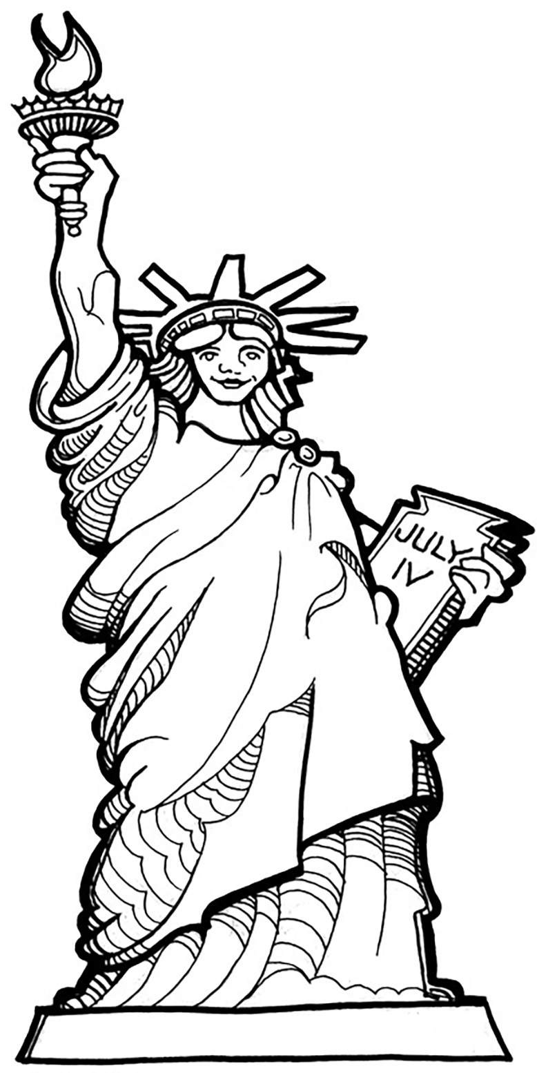 778x1554 Grand Statue Of Liberty Coloring Pages Incredible Kids