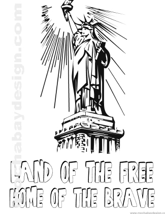 325x420 Printable 4th Of July Holiday Coloring Page Of Statue Of Liberty