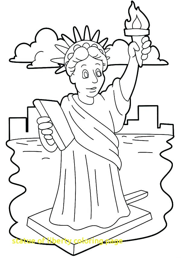 600x854 Statue Of Liberty Coloring Page With The Statue Of Liberty Facts