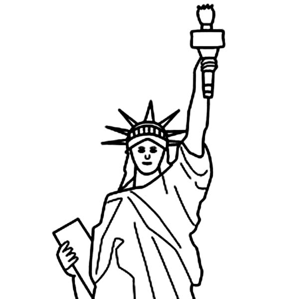 600x600 Statue Of Liberty Coloring Page. Download Or Print These Amazing