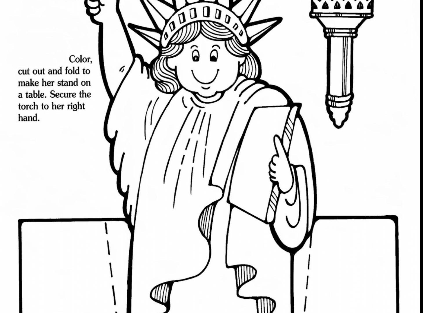 1459x1080 Coloring Statue Of Liberty Pages Free Printable Adult Page Easy