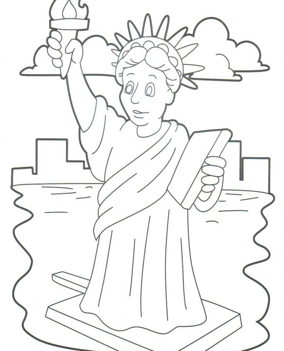 970x1200 Sport Statue Of Liberty Coloring Pages For Download And Print Free