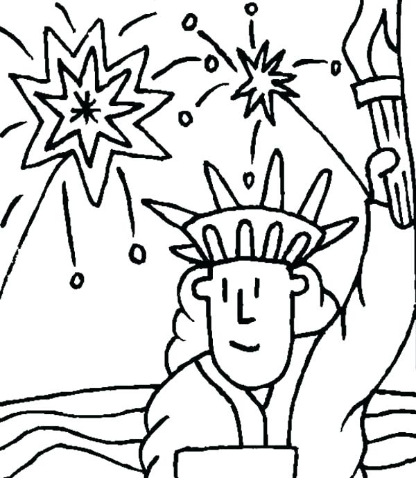 600x689 Statue Of Liberty Face Drawing Outline