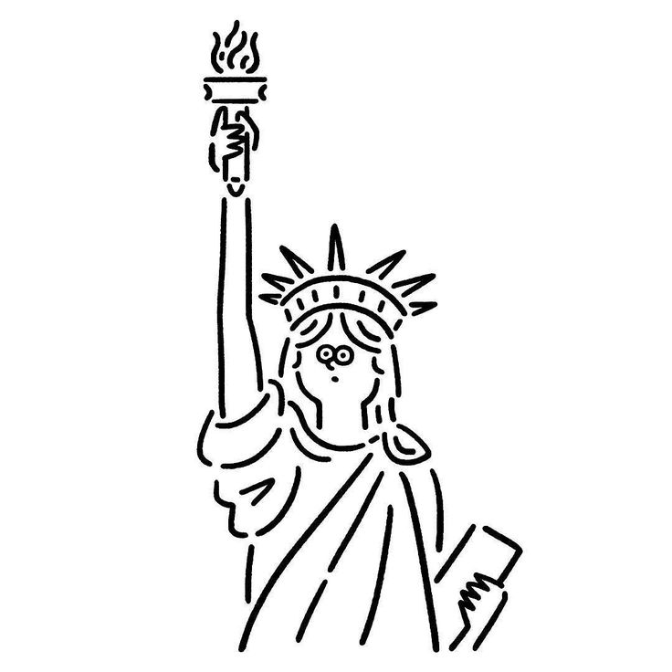 736x736 Realistic Drawing Statue Liberty Youtube. This Statue