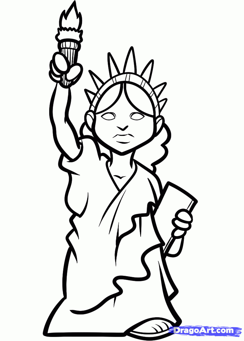 779x1089 Drawn Statue Of Liberty Cartoon Many Interesting Cliparts