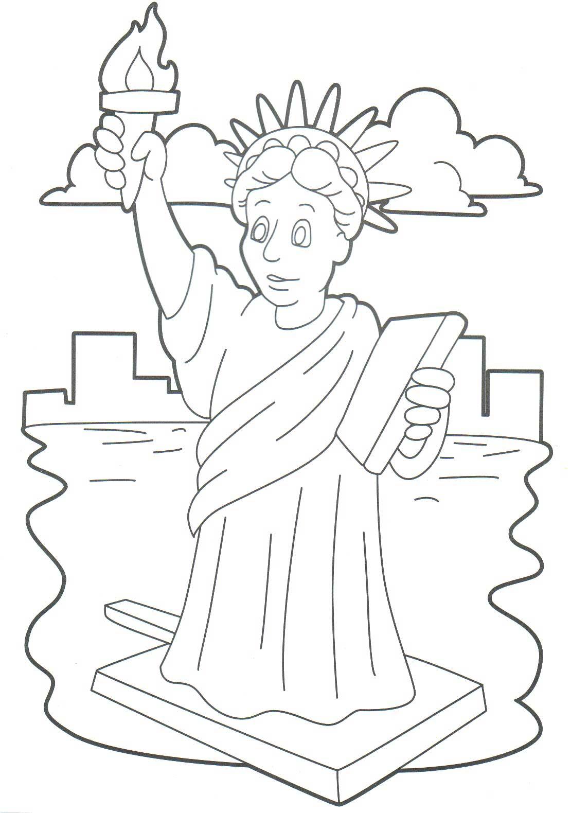 1110x1580 Drawn Statue Of Liberty Printable