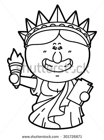 350x470 Drawn Statue Of Liberty Real