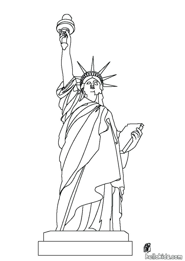 725x1024 Elegant Coloring Pages Statue Of Liberty Crayola Photo Drawing