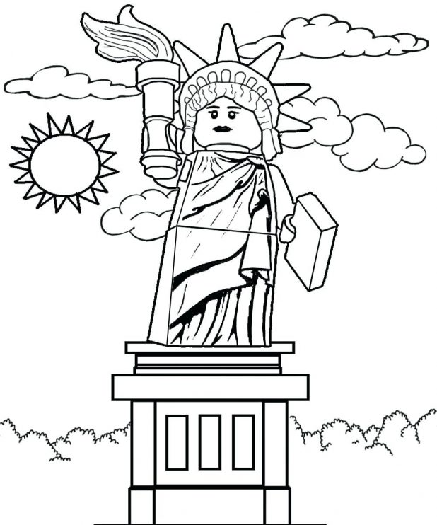 618x742 Free Color And Print Pictures Of Sculpture Series 6 Lady Liberty
