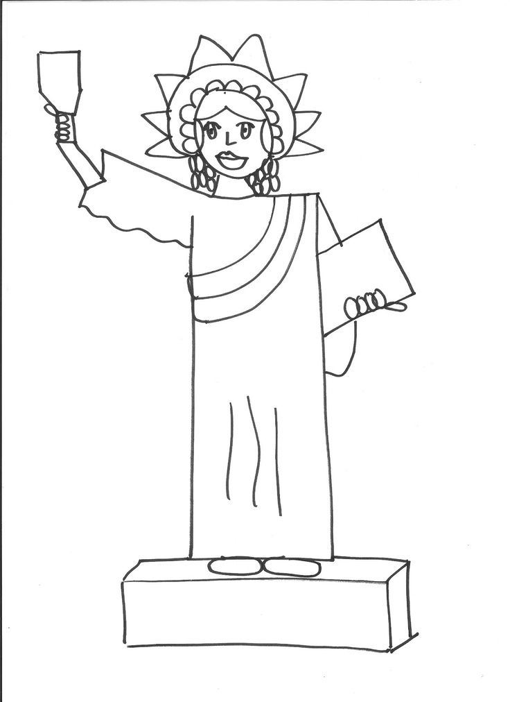 Statue Of Liberty Drawing Step By Step