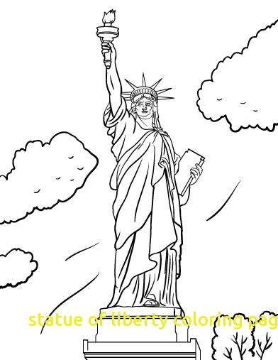 392x507 Statue Of Liberty Coloring Page With Free Statue Of Liberty