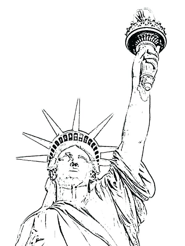 600x800 Statue Of Liberty Coloring Pages Statue Of Liberty Coloring Pages