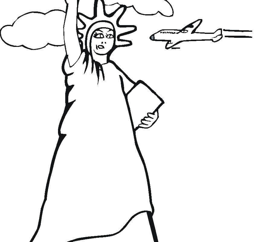 841x800 Statue Of Liberty Coloring Pages. Awesome Statue Of Liberty
