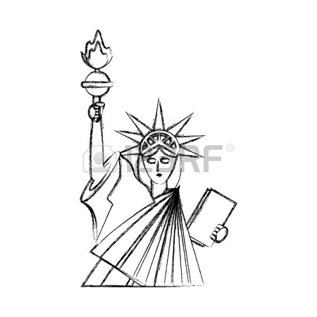 450x450 215 Statue Of Liberty Face Stock Illustrations, Cliparts