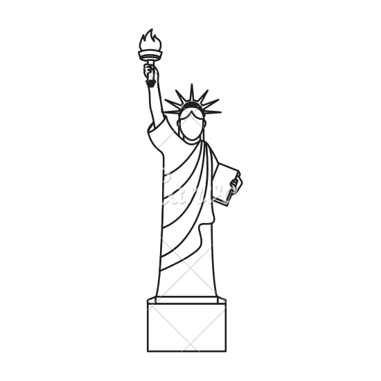 550x550 Liberty Statue Isolated Icon