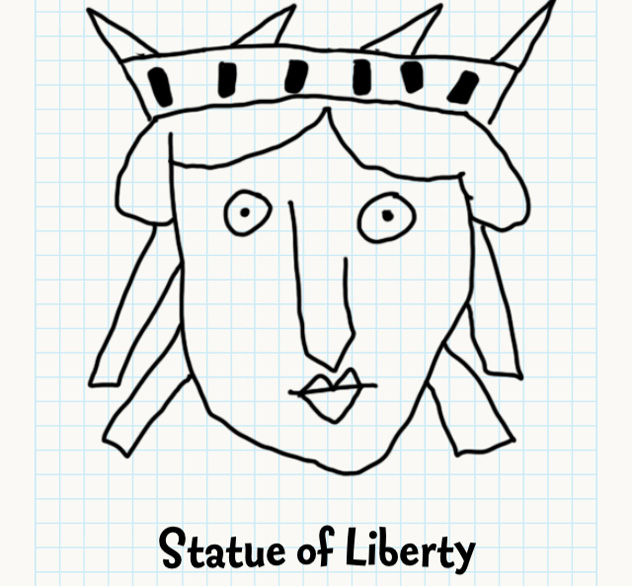 632x586 Statue Of Liberty Badly Drawn Faces Answers, Walkthrough, Cheats