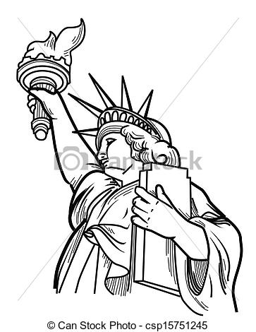 363x470 Statue Liberty Face Illustrations And Clipart. 197 Statue Liberty