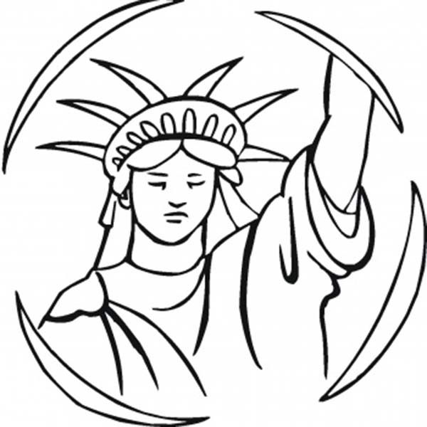 Statue Of Liberty Face Drawing at GetDrawings | Free download
