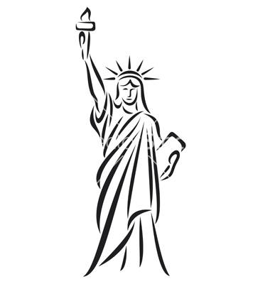 Statue Of Liberty Line Drawing