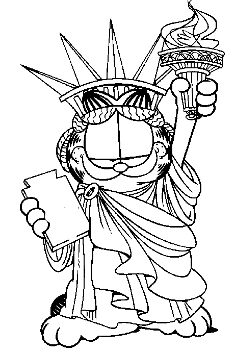 Sketches Of Statue Liberty Sketch Coloring Page