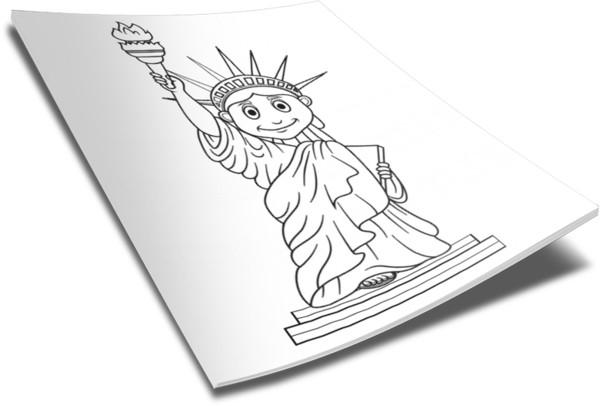 600x406 Statue Of Liberty Coloring Page Children's Ministry Deals