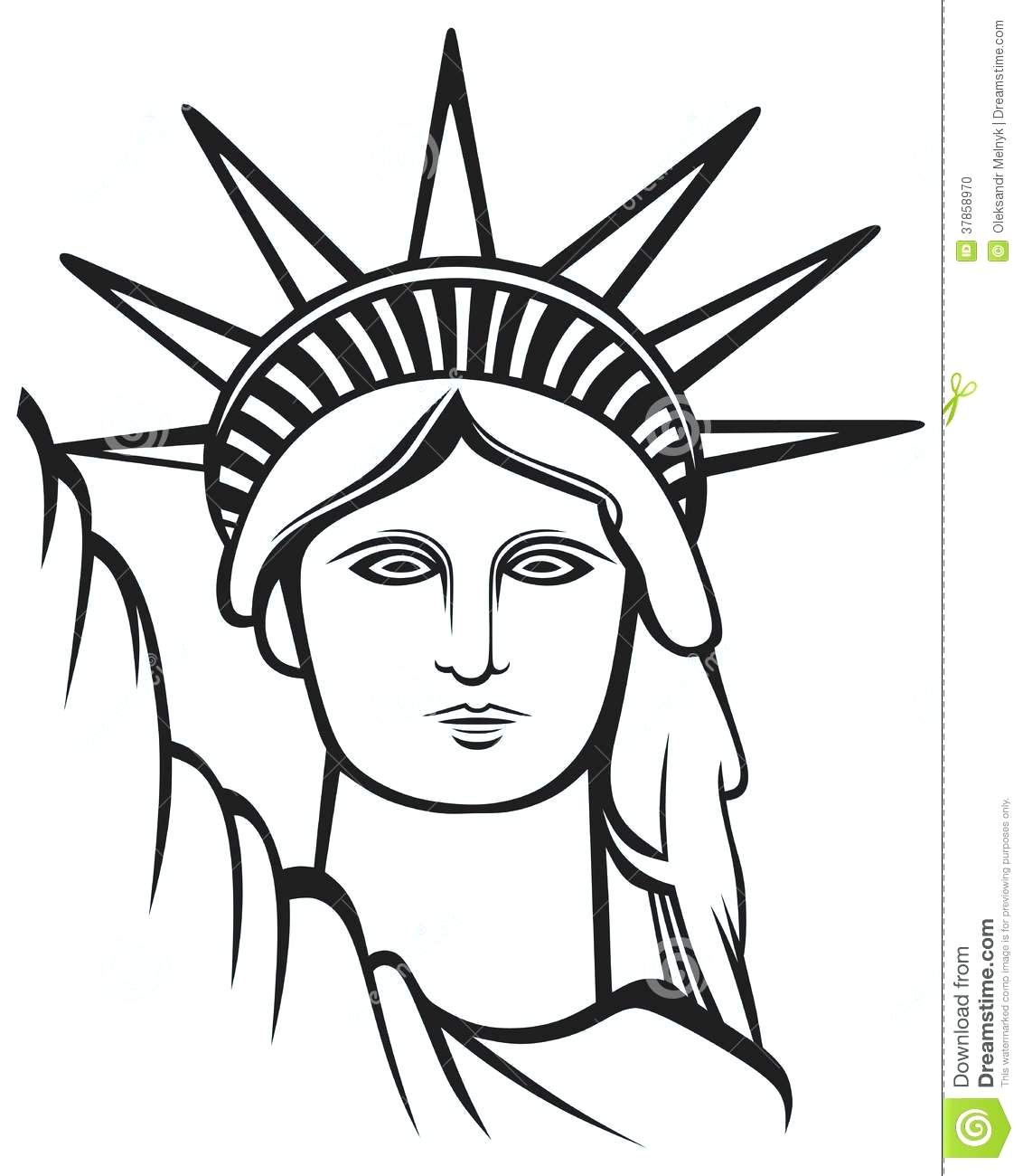 Statue Of Liberty Line Drawing at GetDrawings | Free download