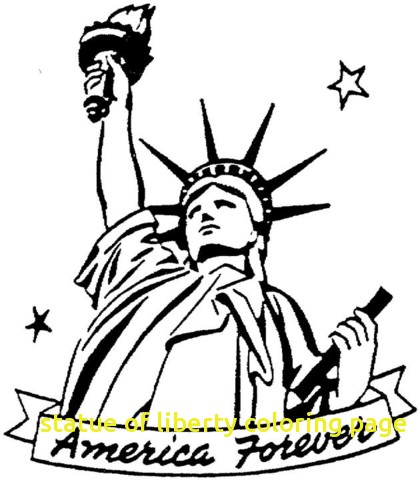 420x480 Statue Of Liberty Coloring Page With Statue Of Liberty Coloring